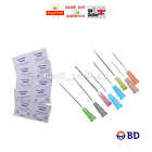 10 20 25 30 BD NEEDLES + THE SAME QTY SWABS HUGE CHOICE 23G BLUE PINK CYCLE INK