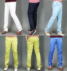 Mens Solid Golf Pants for Men Stretch Tech 5 Pocket Trousers