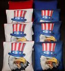 Custom USA Bald eagle Uncle Sam 8 cornhole ACA regulation cornhole bags B31
