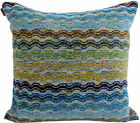 MISSONIHOME ERCOLE T70 VELOUR COTTON OUTDOOR INDOOR PILLOW COVER 16x16""