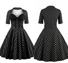 Plus Size Women 50's 60s Retro Vintage Pin Up Rockabilly Swing Party Dresses