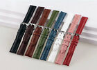 Croco Alligator Grain Genuine Leather Wristwatch Band Watch Strap 8Color 12~24mm