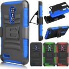 Outer Box Hard Hybrid Case Stand Cover Belt Clip Holster for ZTE Zmax Pro Z981