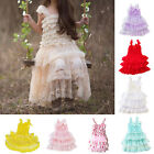 Baby Toddler Girl Lace Dress Clothes Princess Birthday Party Photo Tutu Skirt