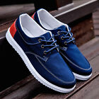 Men's Casual Shoes Canvas Sneakers Recreational Breathable England Flat Lace up