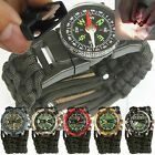 Expedition Dive Watch w/ EXTRA WIDE Paracord 550 Watch Band Paracord Bracelet