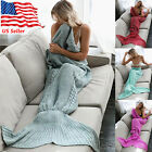 Mermaid Tail Blanket Warm and Soft Blankets For Kids And Adults Bedding Wrap USA image