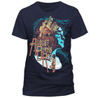 August Burns Red Man T-Shirt - Housefire Rocker Biker Metal blau Front Print