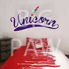 Unicorn Vinyl Wall Art Sticker Decal Girls Teenagers Childrens Bedroom