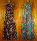 NEW LIGHTWEIGHT MULTI COLOUR FLORAL SUMMER BEACH COVER UP DRESS S M L (UK 8-18
