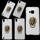 Fashion Bronze Lion Head Finger Ring Holder Stand Hard Back Case Skin for Phones