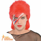 Adult 1970s David Bowie Red Mullet Wig Celebrity Rock Star Fancy Dress Accessory