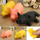 Rubber Pet Dog Puppy Cat Kitten Plush Chew Sound Play Toy Squeaker Squeaky Pig
