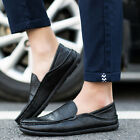 Men's Casual Leather Shoes Driving Loafers Comfortable Moccasins Lazy Peas Flats