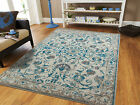 Traditional Rugs 8x10 Blue Gray Distressed Persian Rug 5x8 Vintage Carpet 2x4 Ru
