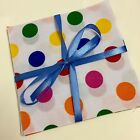 Rainbow Polka Dot poly cotton 10 patchwork Quilting Crafting squares 12x12cm