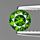 0.51 cts Diamond Round Shape Fancy Forest Green Color Loose Diamond Natural F692