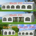PVC Party Tent  - Wedding Carport Canopy 40'x20'/32'x20' and More - x20' Series