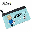 Personalised Pencil Case with Blonde Footballer