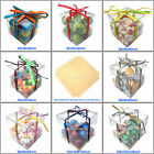5 10 15 20 CLEAR CUBE FAVOUR BOX TRANSPARENT BOXES 8 SIZES WEDDING GIFT CHEAPEST