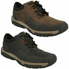 MENS CLARKS WALBECK EDGE LACE UP WATERPROOF LEATHER WALKING TRAINER CASUAL SHOES