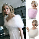 Women's Real Ostrich Feather Fur Cape/Wrap/Wedding Accessories Xmas Sale