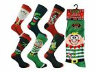 3 Mens Santa Xmas Stocking Filler Novelty Festive Christmas Socks UK 6-11