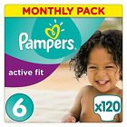 Pampers Premium Protection Active Fit Nappies,  Monthly Saving Pack -3, 4, 4+, 5, 5+6