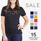 Jerzees Women's SpotShield Jersey Polo 50/50 Solid Sport Polo Tee Shirt 437W