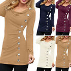 Women Long Sleeve Slim Casual Pullover Cotton Blouse Tops T-shirt Tee Shirt S-XL