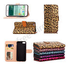 Leopard Print Pattern Wallet Case Flip Stand Card Pouch Cover Fr iPhone 6 7 Plus