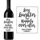 130MM X 100MM PERSONALISED WEDDING WINE BOTTLE LABEL STICKERS TABLES PARTY