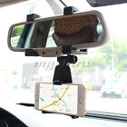 Universal Auto Car Rearview Mirror Mount Holder Stand Cradle For iPhone 6s 7