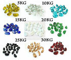 Glass Nuggets / Pebbles / Stones /GemsIn A Variety Of Colours & Weight In Bag
