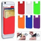Silicone Pocket ID Card/Money Holder For Phones/Cases Sticky Rear Adhesive Hot
