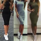 Women Summer Casual Bodycon Lady Slim Party Evening Cocktail Midi Dress S-XL HOT