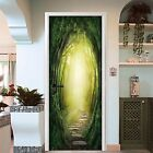 3D Forest Sunshine Door Wall Mural Photo Wall Sticker Decal Wall AJ WALLPAPER AU