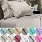4 Piece 1800 count Deep Pocket Bed Sheet Set size King- Queen-Full Twin color