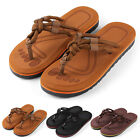 Anti slip Mens Thong Flip Flops Summer Strappy Knotted Sandals Size 9 10