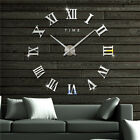 Modern 3D DIY Large Wall Clock Roman Numerals EVA Hanging Watche Room Home Decor
