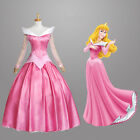 Sleeping Beauty Princess Aurora Pink Adult Cosplay Costume Halloween Party Dress