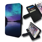 AURORA BOREALIS GALAXY NATURE COOL FLIP PHONE COVER WALLET HOLDER CASE