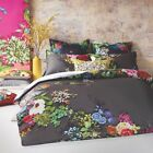 NEW Charcoal Tropicana Quilt Cover Set