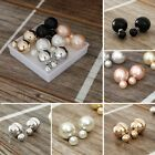 5 pairs Double sided Faux Pearl Earrings  image