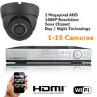 SPRO 2 Megapixel AHD Dome Camera with 4ch 1080P Silver CCTV System HD P2P Cloud