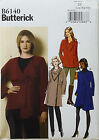 BUTTERICK PATTERN JACKET & COAT SEMI FITTED 4 DESIGNS EASY XS-M or L-XXL # B6140