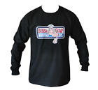 T SHIRT LONG SLEEVE BUBBA GUMP SHRIMP FORREST GUMP MENS BLACK ALL SIZES S TO 3XL