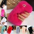 Fashion Winter Warm Luxury Soft Furry Rabbit Fur Case Cover For iPhone