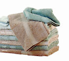 2 x Organic Cotton Bath Towels Set 500GSM Chemical Free Natural Brown/Green