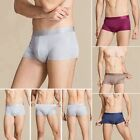 Mens 100% Pure Silk Knitted Boxer Brief Trunks Underwear Underpants Sisters Silk
